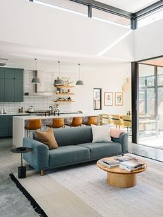 Our Austin Casa || The Full House Tour - MidCentury Modern Living Room and Kitchen / Scandi Sofa -  The Effortless Chic