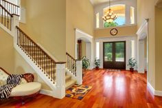 Modern Entryway - Come find more on Zillow Digs! Too much unused space. Mine would be more quaint like a bungalow.