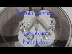 Chinelo decorado - Flor de pétalas de pérolas - YouTube