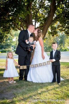 10 Year Wedding Anniversary Photos. We won't be able to do this for our 10th, but this is a great idea to tuck away for when we're able to have our big vow renewal party!