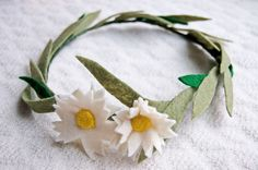 Floral crown from upcycled fabric scraps
