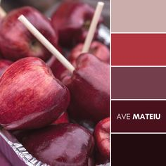 Red candied apples at fall harvest festival Color Palette #397 – Ave Mateiu - Fall Autumn 2020, color palette, color palettes, colour palettes, color scheme, color inspiration, color combination, art tutorial, collage, digital art, canvas painting, wall art, home painting, photography, weddings by color, inspiration, vintage, wallpaper, background, rustic, seasonal, season, natural, nature