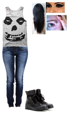 """""""Untitled #135"""" by angelofdeath6 ❤ liked on Polyvore featuring Carlos Miele and Converse"""