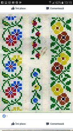 Crochet Stitches, Embroidery Stitches, Embroidery Patterns, Knitting Patterns, Cross Stitch Designs, Cross Stitch Patterns, Floral Banners, Cross Stitch Alphabet, Cross Stitch Flowers