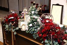 クリスマス Red Christmas, Christmas Wedding, Christmas Wreaths, Xmas, 365days, Table Flowers, Bridal Flowers, Red Gold, Red Green