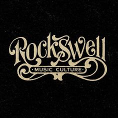 custom logo for Rockswell by artist Aaron von Freter. 70s style, vintage, retro, logo, t-shirt, Rockswell, classic rock, rock&roll, type, graphic design, music, culture, lettering, typography