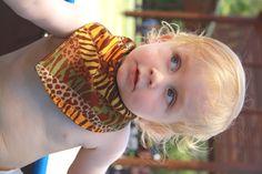 Boys Medium Oougsh Bandana Bib.  Fabrics vary constantly.  Waterproof and Reversible.