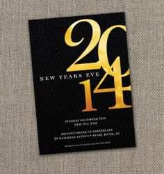 New Year's Eve Party Invitation (Digital file)