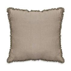 product image for Downton Abbey® Ruffled Luxury Collection Linen Square Throw Pillow