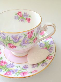 English Royal Grafton Fine Bone China Tea Cup and Saucer Spring Tea Party