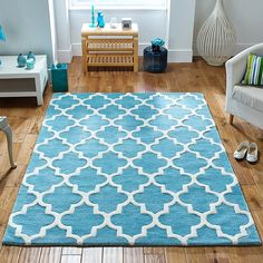 Arabesque Rugs Light Teal With Free Delivery To Mainland Uk Are Quality Heavyweight Modern Wool That Handcarved Moroccan Design