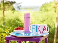 "FIKA Collection by ""I Love Design"" (www.ilovedesign.net) - coffee cups, tea towels, napkins, trays (3 sizes), dish cloths.... Great vibrand collection of modern home accessories. Please contact us for any retail enquirements."
