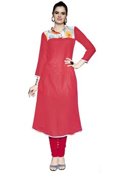 #Pink #Faux #Georgette #Kurti.  #Pink #Faux #Georgette #Printed #Work #Kurti.#Product #colour & #Patch Patta.  INR:1,134.00  With Exclusive Discounts  Grab: http://tinyurl.com/gs7qlde