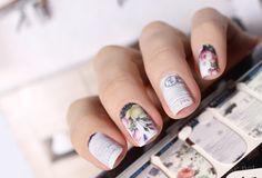 Vintage full nail art wraps