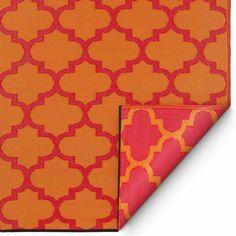 """Wow! Outdoorteppich """"Tangier"""" in orange & rot ist ein knalliger Blickfang und macht Lust auf jede einzelne Sonnenstunde! Der UV- und wetterresistente Outdoor Teppich ist aus recycelter Kunstfaser gefertigt, bringt Farbe auf Balkon,..."""