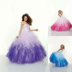 puffy prom dress cheap plus size ball gowns little girl quinceanera dresses sweetheart tulle ruched fuchsia purple blue $175.00
