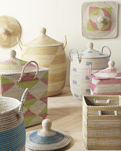 Check out this product on Alibaba App Attractive coiled seagrass basket with lid, Vietnam seagrass basket plastic string weaving Storage Bins With Lids, Storage Baskets, Rope Basket, Basket Weaving, Nursery Bedding, Nursery Room, Baby Bedding, Storing Towels, Boho Living Room