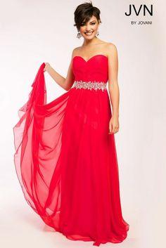 Jovani Watermelon Strapless Sweetheart Bejeweled Waistband Prom Dress Sz 4 NWT #Jovani #PromWeddingEveningPageantGalaFormal