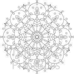 8. Flower Mandala printable coloring page. by PrintBliss on Etsy