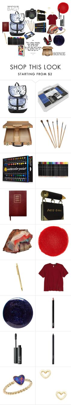 """""""Artist in Wonderland"""" by alisafranklin on Polyvore featuring Disney, Eos, Sloane Stationery, Vivienne Westwood, Christian Louboutin, Cartier, Topshop, Lauren B. Beauty, NARS Cosmetics and Katherine Jetter"""