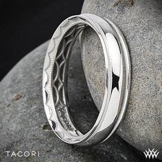 Tacori Sculpted Crescent Millgrain Eternity Wedding Ring