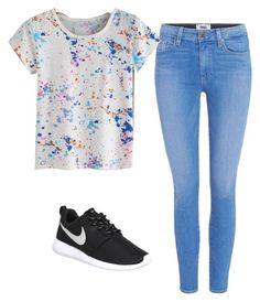 """""""Hang out"""" by danielle09-1 on Polyvore featuring Paige Denim and NIKE"""