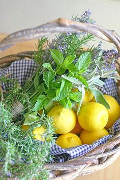 Lemons and herbs