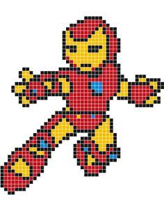 Pixel Art Iron Man Facile