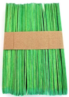 100 Wood Jumbo Craft Sticks Green Color Popsicle Stick Crafts, Craft Stick Crafts, Popsicle Stick Picture Frame, Green Craft, Craft Sticks, Wedding Fans, Unique Weddings, Green Colors, Gifts For Kids