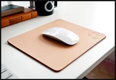 PREMIUM LEATHER MOUSEPAD(NATURAL) | Ugmonk  Looks great with age too
