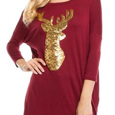 Sequin Reindeer Top - Lovely LAUNDRY Boutique - Adorable clothes at affordable prices.   #instashop #modestclothes #modestclothing #shopmycloset #instaboutique #instagramboutique