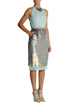 E for embellishment - Matthew Williamson Sequined organza dress #THEOUTNETabc #SeeItShopIt