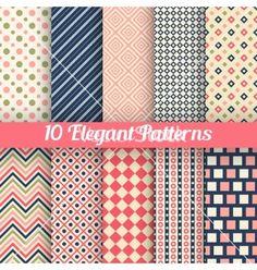 Elegant seamless patterns vector by Kannaa on VectorStock®