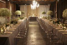 Long tables at Melrose Market Studios in Seattle! Photo by Katie Price.