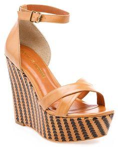 Pour La Victoire 'Bonita' Leather Wedge Sandal