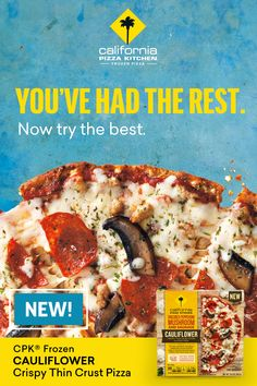 You've had the rest, now try the best. Click to try our New Gluten Free CPK Frozen Cauliflower Crispy Thin Crust Pizza! Eggplant Recipes, Salmon Recipes, Diet Recipes, Snack Recipes, Pizza Dough Crust Recipe, Butter Squash Recipe, No Carb Food List, Veg Pizza, Food For Less