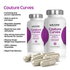 LA Tone Couture Curves -EXTRA Premium HIGH STRENGTH Weight Loss Pills - Pharma Grade- Appetite Suppressant; Enhances Metabolism for increased weight loss; One Month Supply suitable for vegetarians - Natural Appetite Suppressant Diet Pill ~ Three Daily Servings To Support Healthy Weight Loss- Order now before the price goes back up - 100% Lifetime Guarantee - Ultra Fast weight loss, diet pill!!