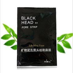 50pcs Black Mask Face Care Facial Mask Nose Suction Blackhead Remover Black Head Acne Treatments Pore Strips