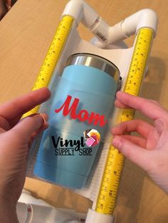 Cricut Projects Discover Hands Free Cup Cradle Crafting Base for Helping Apply Sticky Vinyl Decals to Tumblers Mug Holder Craft Stand Custom Made Crafters Gift Vinyle Cricut, Cricut Vinyl, Vinyl Decals, Custom Decals, Wall Stickers, Wall Decals, Cricut Stencils, Cricut Mat, Wall Art