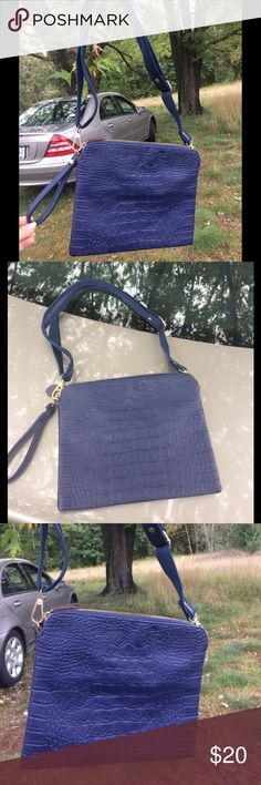 Crocodile faux leather new Crocodile faux leather new blue Bags Crossbody Bags