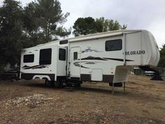"""2007 Used Dutchmen Colorado 30RL Fifth Wheel in California CA.Recreational Vehicle, rv, 2007 Dutchmen Colorado 30RL, 2007 Chevy Silverado 2500 classic LT & 2007 Dutchman Colorado 5th wheel, 5th wheel is model """"30ce"""", 34 ft. actual length, 2 slides, living area slide & bed room slide, rear living area, w/2 recliners, couch makes into bed, dinette table makes into bed, sleeps six, ducted a/ac, flat screen tv, satellite dish for """"DirectTV"""", crank up tv antenna, 5 disc dvd player, surround sound…"""