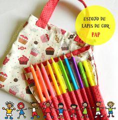 15º Desafio - Projeto Dia das Crianças   Estojo de lápis de cor PAP   Clubinho da Costura