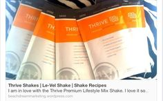 161 Shake recipes! I prefer almond vanilla soy milk and ice, but a change every once in awhile is good too. Http://ollingersthrive.le-vel.com