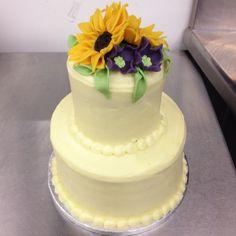 Miniature Sunflowers Wedding Cake