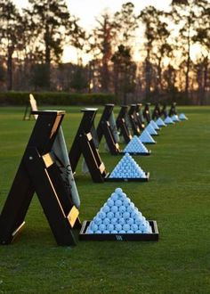 Waldorf Astoria Golf Club Driving Range - Golf carts are equipped with GPS navigation to ensure you have a professional golf experience. #GolfClubs