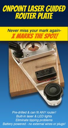 Never miss your mark again when plunge routing. X marks the spot! Diy Router, Router Jig, Wood Router, Metal Working Machines, Router Plate, Plunge Router, Dremel Carving, Dremel Tool, Got Wood