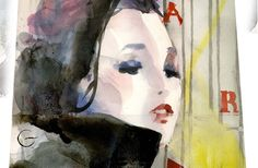 # ara starck, watercolor on paper @ paolo galetto