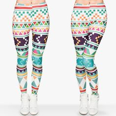 Zohra Brand New Fashion Aztec Printing legins Punk Women's Legging Stretchy Trousers Casual Slim fit Pants Leggings Aztec Leggings, Galaxy Leggings, Cheap Leggings, Printed Leggings, Fitness Fashion, New Fashion, Fashion Women, Style Fashion, Women's Fitness
