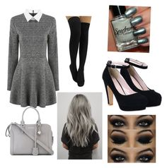 Style: grey by weaverkristy on Polyvore featuring polyvore, fashion, style, Alexander McQueen, women's clothing, women's fashion, women, female, woman, misses and juniors