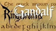 Lord of the Rings lettering and fonts by Daniel Reeve